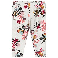 Catimini Cream Flower and Bird Print Leggings 11
