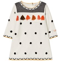 Catimini Cream Spot and Tassle Knit Dress 12