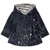 Catimini Navy Star Print Lined Raincoat 48