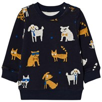 Catimini Navy All Over Dog Print Sweatshirt 48