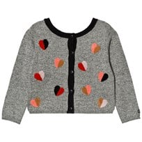 Catimini Grey Heart Embroidered Cardigan 02