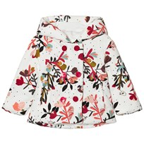 Catimini Multi Flower Print Microcord Padded Hooded Coat 11