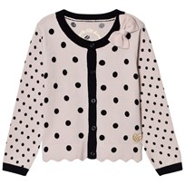 Guess Pink and Black Spot Knit Cardigan with Bow PU23
