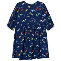 Stella McCartney Kids Navy Skates Print Meadow Dress 4064