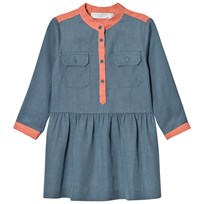 Stella McCartney Kids Blue and Pink Tess Shirt Dress 4961