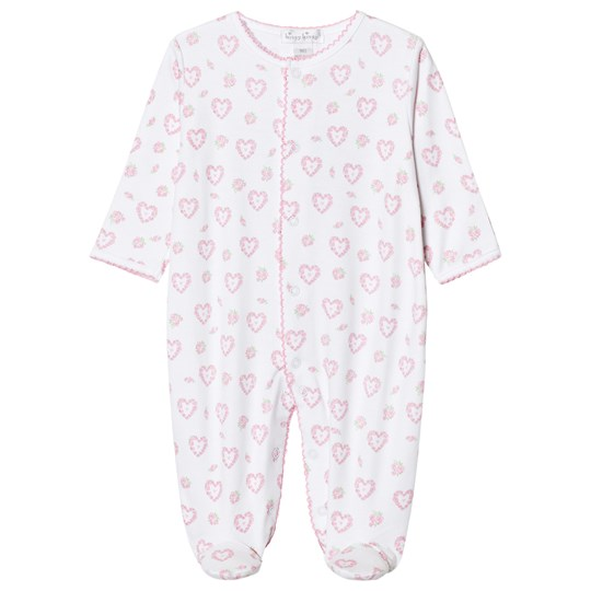 Kissy Kissy Pink Floral Heart Print Jersey Footed Baby Body PK