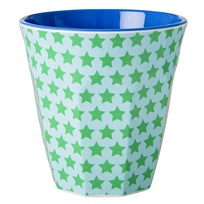 RICE A/S Melamine Cup Two Tone with Star Print Multi
