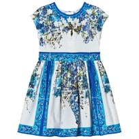 Dolce & Gabbana Blue and White Floral Majolica Print Dress HAD10