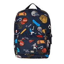 Dolce & Gabbana Navy Sports Cartoon Print Backpack HBC62