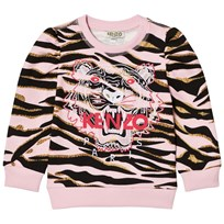 Kenzo Pink Tiger Print Sweatshirt with Puff Sleeves 32