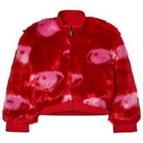 Kenzo Red Eye Print Faux Fur Bomber Jacket 03