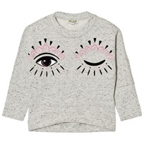 Kenzo Grey Marl Eye Print Drop Hem Sweatshirt 23