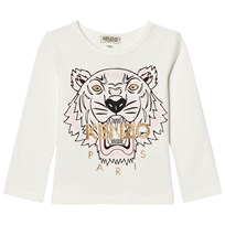 Kenzo White Tiger Print Long Sleeve Tee 11