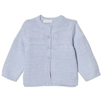 Absorba Pale Blue Cashmere-Cotton Textured Knit Cardigan 41