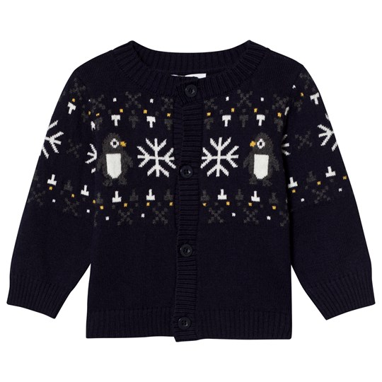 Absorba Navy Penguin and Snowflake Knit Cardigan 49