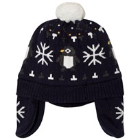 Absorba Navy Penguin and Snowflake Knit Hat 49