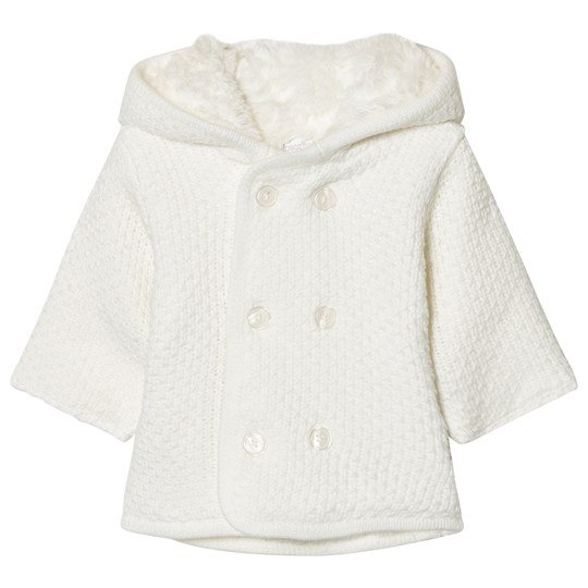 Absorba Cream Knit Hooded Coat with Faux Fur Lining 11