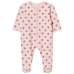 Absorba Pink Spot Padded Footed Baby Body