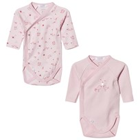 Absorba 2 Pack of Pink Bird Print Wrap Bodies 30