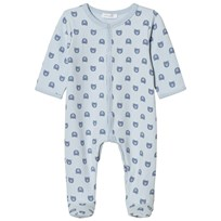 Absorba Pale Blue Bear Print Jersey Footed Baby Body 40