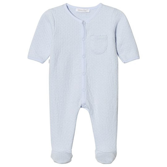 Absorba Pale Blue Textured Babygrow 41