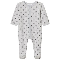 Absorba Grey Star Print Jersey Footed Baby Body