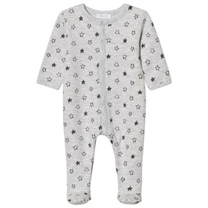 Image of Absorba Grey Star Print Jersey Footed Baby Body 9 months (2743795991)