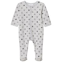 Absorba Grey Star Print Jersey Footed Baby Body 24