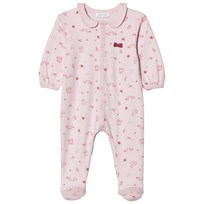 Absorba Pink Swan, Bird and Cat Collared Jersey Footed Baby Body 30