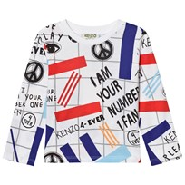 Kenzo White All Over Print Long Sleeve Tee 01