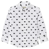 Kenzo White All Over Eye Print Shirt 01