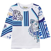 Kenzo White All Over Icons Print Long Sleeve Tee 01