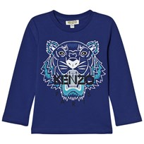 Kenzo Blue Tiger Print Long Sleeve Tee 48