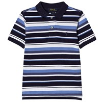 Ralph Lauren Navy Multi Stripe Polo with Big PP 001
