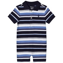 Ralph Lauren Multi Stripe Pique Short Romper 001