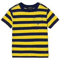 Ralph Lauren Yellow Stripe Pique Pocket Tee 004