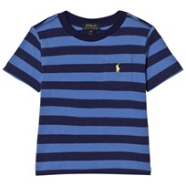 Ralph Lauren Navy Stripe Pique Pocket Tee 001
