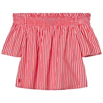 Ralph Lauren Red Stripe Off The Shoulder Top 001