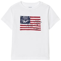 Ralph Lauren White US Flag Print Tee 001