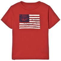 Ralph Lauren Red US Flag Print Tee 001
