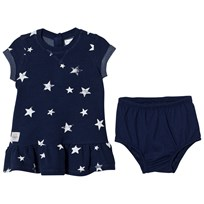 Ralph Lauren Navy Star Print Mid Weight Jersey Dress 001