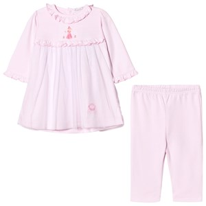 Image of Kissy Kissy Pink Rose Princess Embroidered Tulle Front Dress and Leggings Set 6-9 months (2743778709)