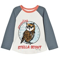 Stella McCartney Kids White Owl Print Izzy Tee 9232