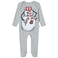 Stella McCartney Kids Grey Snowman Rufus Footed Baby Body 1461