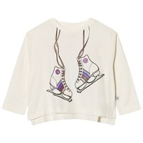 Stella McCartney Kids White Skates Print Farah Tee 9232