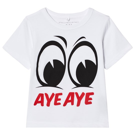 Stella McCartney Kids White Aye Aye Arlo Tee 9082