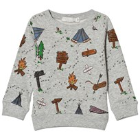 Stella McCartney Kids Grey Explorer Print Billy Sweatshirt 1458