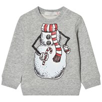 Stella McCartney Kids Grey Snowman Print Biz Sweatshirt 1461