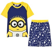 Fabric Flavours Blue and Yellow Minions Glow in the Dark Pyjamas Blue & Yellow