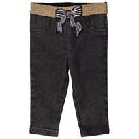 Little Marc Jacobs Grey Jegging with Glitter Waistband and Bow Z11